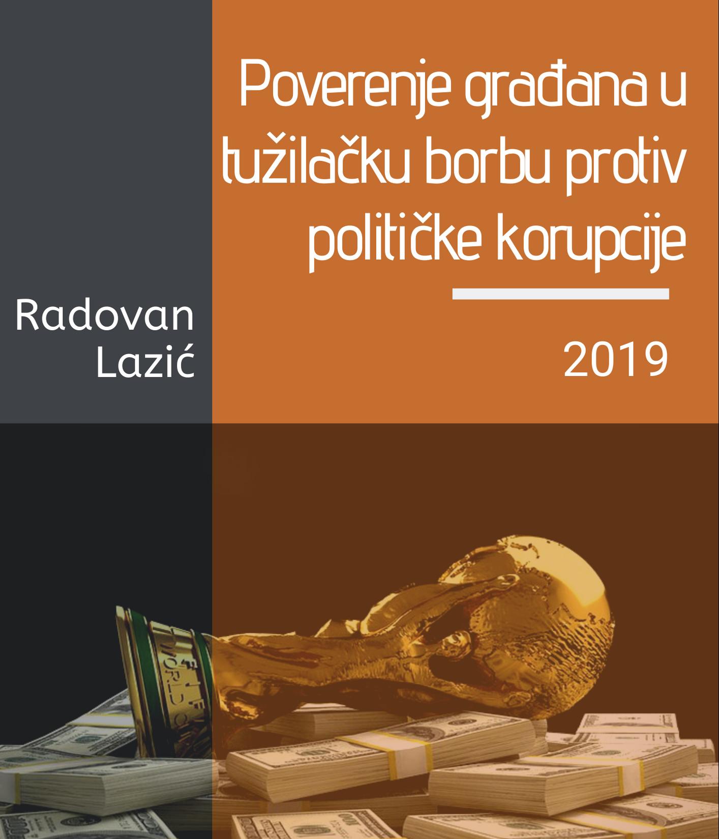 Studija: Poverenje građana u tužilačku borbu protiv političke korupcije